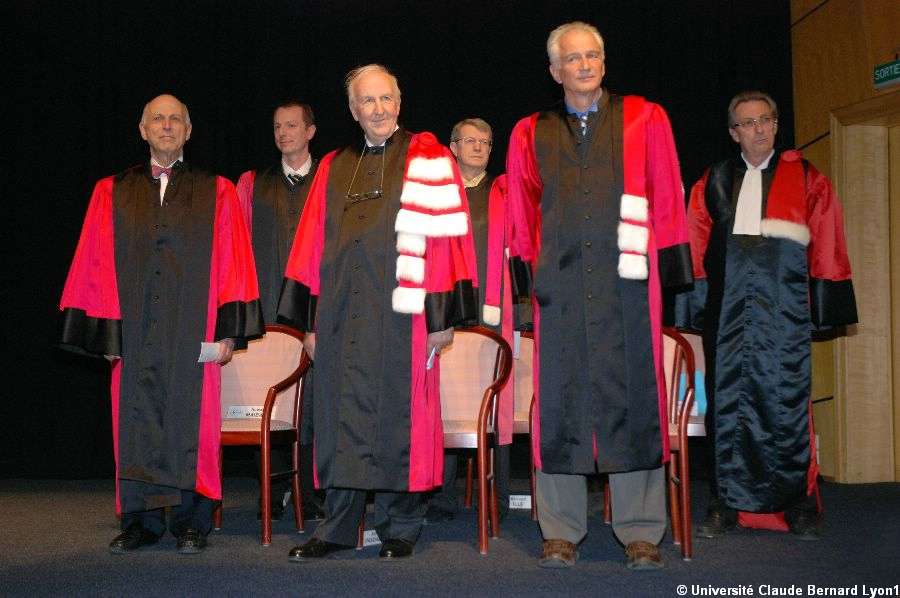 Doctorats Honoris Causa 2008 : Howard MAIBACH, Enrico PREDAZZI, et Paul SUGARBAKER