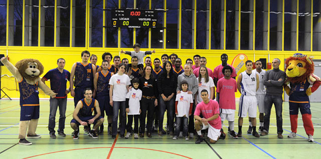 Elite universitaire match associatif pour maillot du coeur ©Eric Le Roux