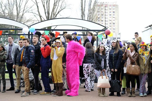 Etudiants au carnaval IUT 2014 ©Eric Le Roux