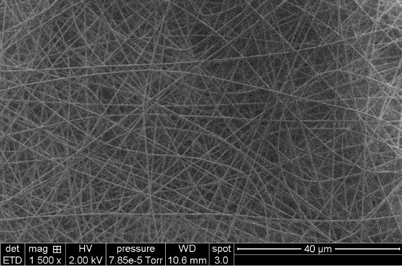 Filaments de polymère obtenus par les étudiants, par électrofilage au laboratoire LMI