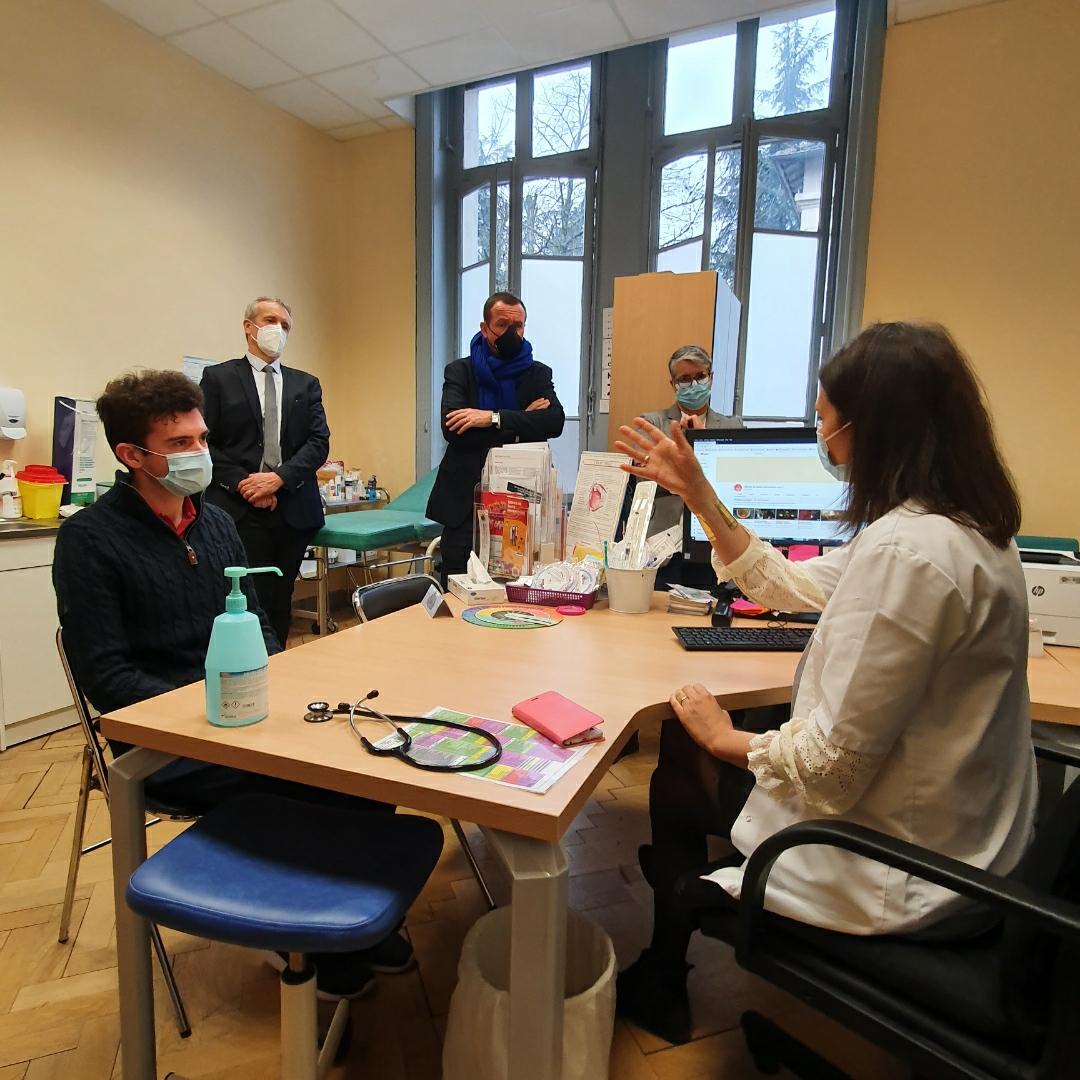 Caroline Combes reçoit le Maire de Villeurbanne au SSU