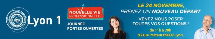 Université Lyon 1 présent au Salon Nouvelle Vie Pro le 24 novembre 2016